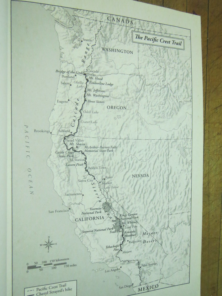 Pacific Crest Trail Map | From the book Wild by Cheryl Stray ...