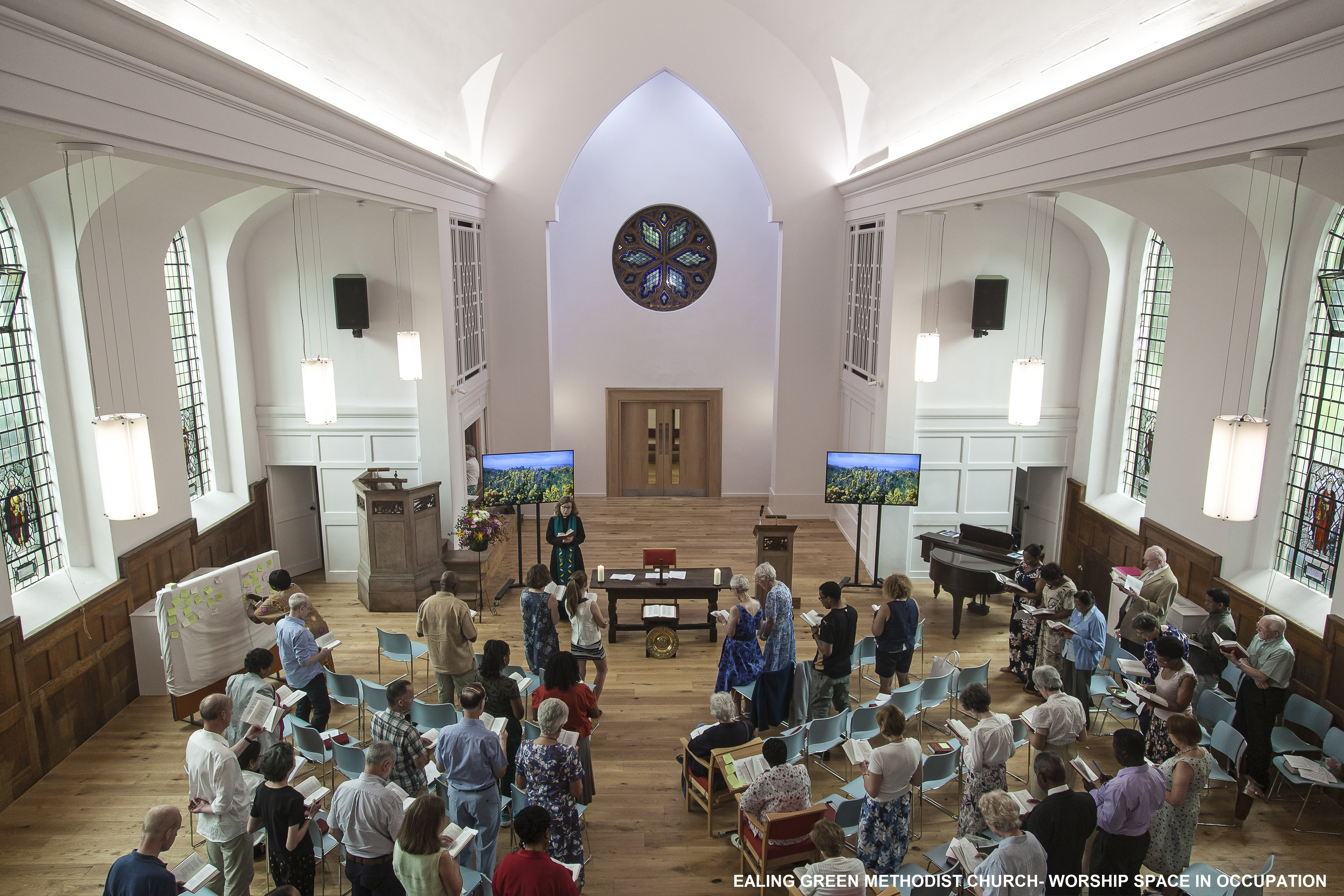 Ealing Green Church - the Worship space in occupation