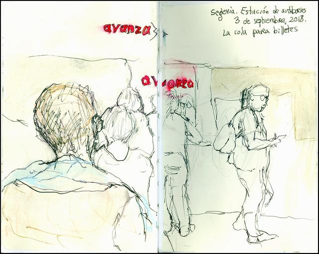 Segovia. Estación de autobuses. 3 de septiembre, 2018.