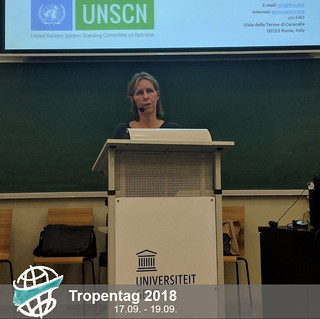 Stineke Oenema (UN Standing Committee on Nutrition) speaking about the need for science-based coherent policies and actions | by tropentag