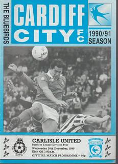Cardiff City V Carlisle United 26-12-90 | by cumbriangroundhopper