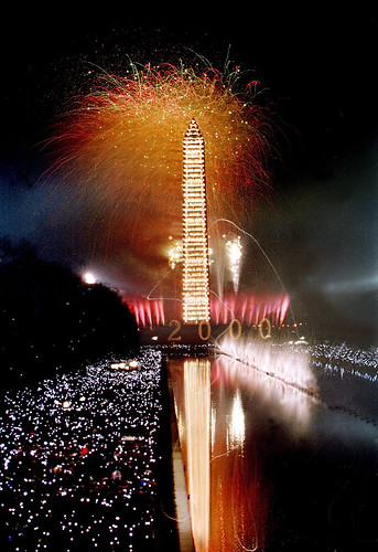 Millenium Fireworks Washington Mall 2000