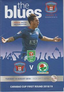 Carlisle United V Blackburn Rovers 14-8-18 | by cumbriangroundhopper