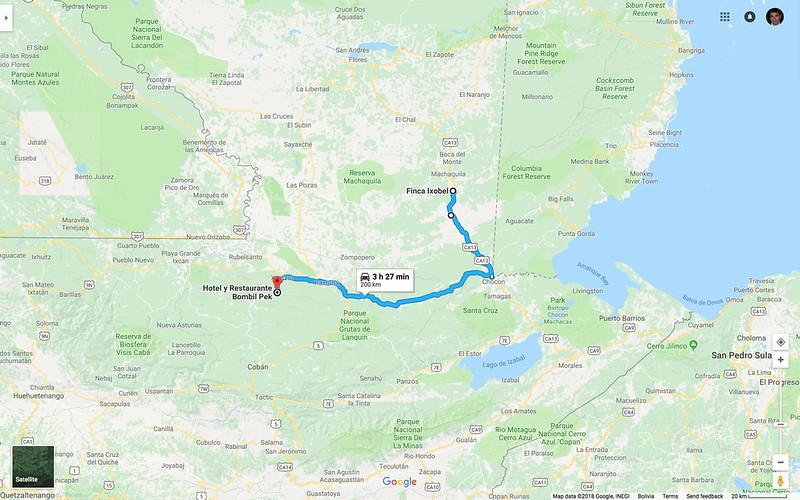 Map_Guat_FincaIxobelToHotelBombilPek