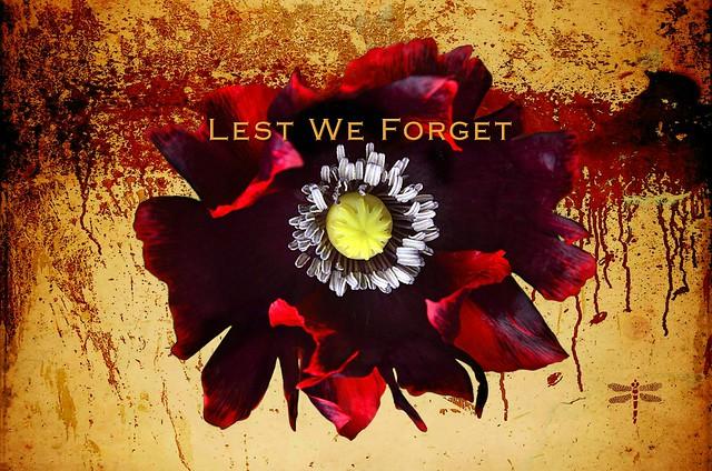 lest we forget . . .