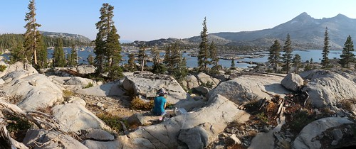 0271 Panorama view south from our campsite on Lake Aloha, with Pyramid Peak on the right | by _JFR_