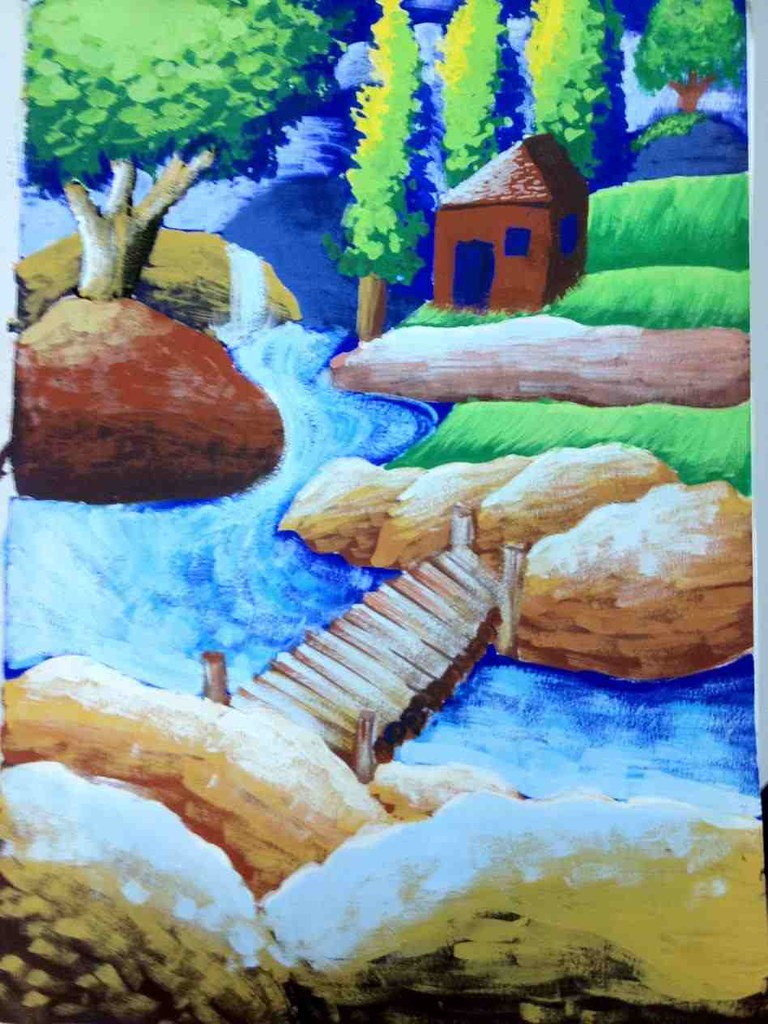 Poster Colour Paintings Of Nature Draw Photo Nature Hd Pic Flickr