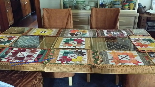 All 8 placemats are finished Autumn Jubilee