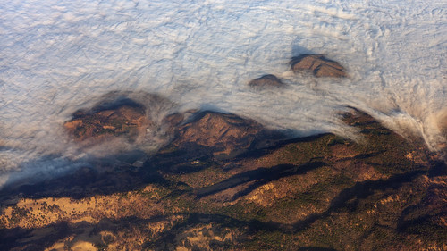 aerial morning landscape california napa clouds fog hills wildhorsevalley sunshine