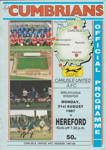 Carlisle United V Hereford 31-8-87 | by cumbriangroundhopper