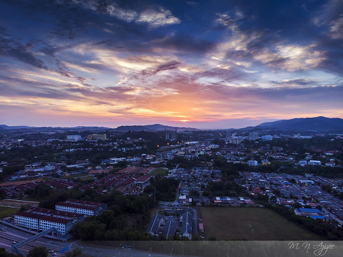 mnazizee pakcikg dji mavicair sunset djipilot orange seremban building cloud cloudchaser rawediting