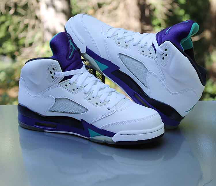 check out 41964 cbfdc Nike Air Jordan 5 Retro GS 'Grape' 2013 White 440888-108 S ...