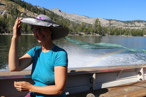 3224 Vicki is having a great time on the Echo Lake Water Taxi - complete with a rainbow in the spray   by _JFR_