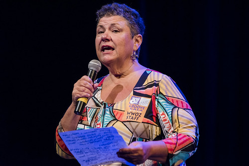 Beth Arroyo Utterback at the WWOZ Groove Gala on September 6, 2018. Photo by Ryan Hodgson-Rigsbee www.rhrPhoto.com