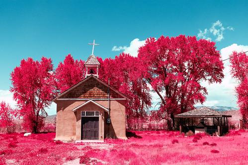 sanluis colorado unitedstates us alienskin losfuertes church catholic simulatedinfrared