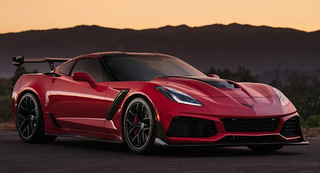 Long Beach Red Corvette ZR1 Puts On Satin Black Wheels For Sunset Pose | by Types cars