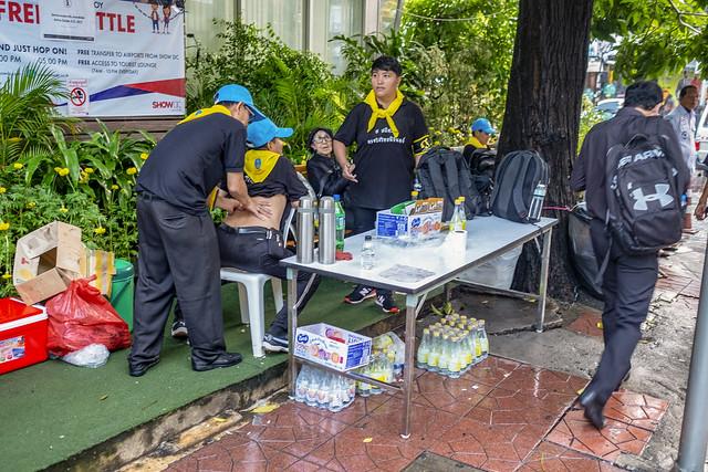 La cremacion del rey de Tailandia