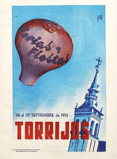 Programa de fiestas de Torrijos (Toledo). Año 1951