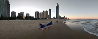 Gold Coast Panorama: Running Girl | by bilateral