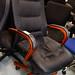 Leatherette swivel chair E100