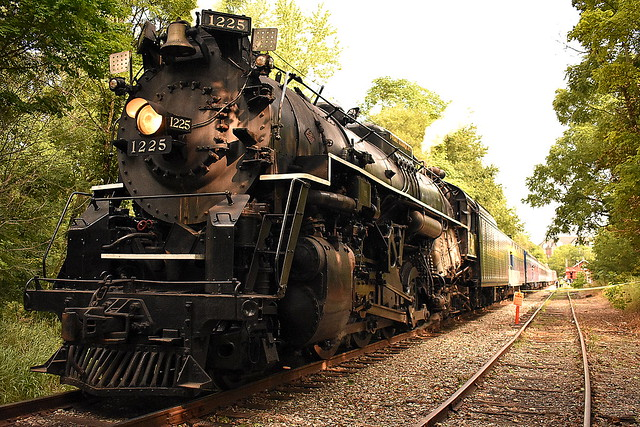 Pere Marquette 1225 up close at Howell Michigan