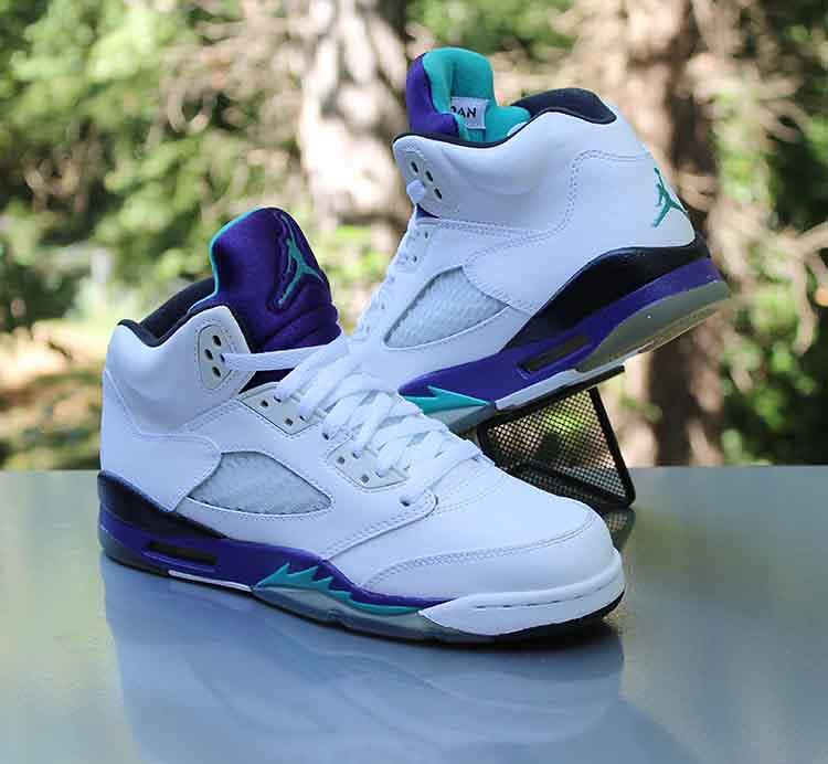 e5ce84a0d7b1 ... Nike Air Jordan 5 Retro GS  Grape  2013 White 440888-108 Size 6Y