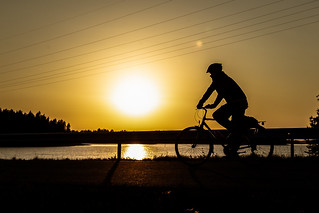 Cyclist in the evening | by VisitLakeland