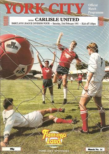 York City V Carlisle United 23-2-1991 | by cumbriangroundhopper