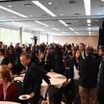 It was wall-to-wall networking at the reception after the Science Slam.