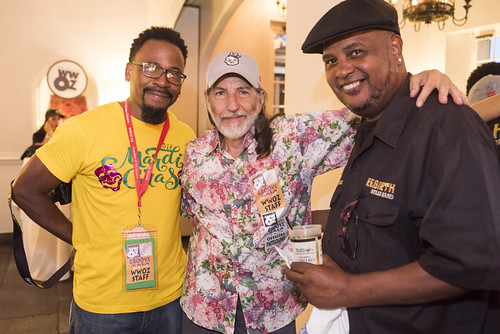 Marcel McGee, Charlie Steiner, Action Jackson at the WWOZ Groove Gala on September 6, 2018. Photo by Ryan Hodgson-Rigsbee www.rhrPhoto.com