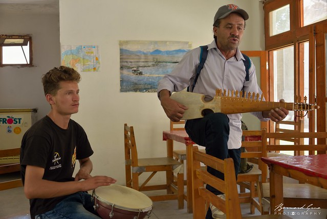 Joueurs de musique traditionnelle wakhi, Passu © Bernard Grua