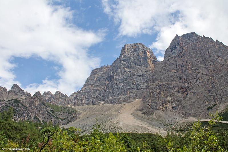 Monte Pelmo visto dal parcheggio