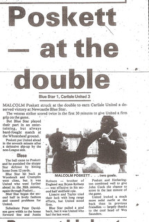 Newcastle Blue Star V Carlisle United 5-8-87   by cumbriangroundhopper