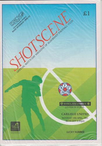 Aldershot V Carlisle United 13-4-91   by cumbriangroundhopper