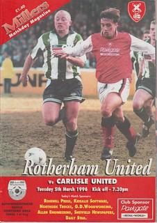 Rotherham V Carlisle 5-3-96 | by cumbriangroundhopper