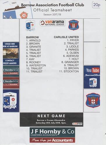 Barrow V Carlisle 10-7-18 | by cumbriangroundhopper