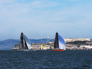 2 of the 4 Pac52s, Rolex Big Boat Series, San Francisco Bay
