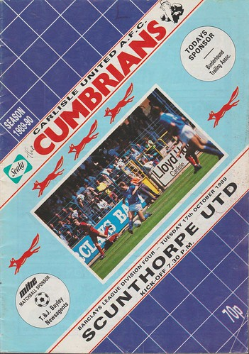 Carlisle United V Scunthorpe 17-10-89 | by cumbriangroundhopper