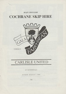 Gala Fairydean V Carlisle United 7-8-88 | by cumbriangroundhopper