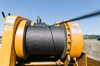 Post-tensioning winch   A winch pulls steel strands through …   Flickr