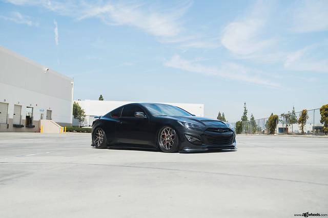 Hyunda Genesis Coupe | Avant Garde Wheels F411 Brushed Black Nickel