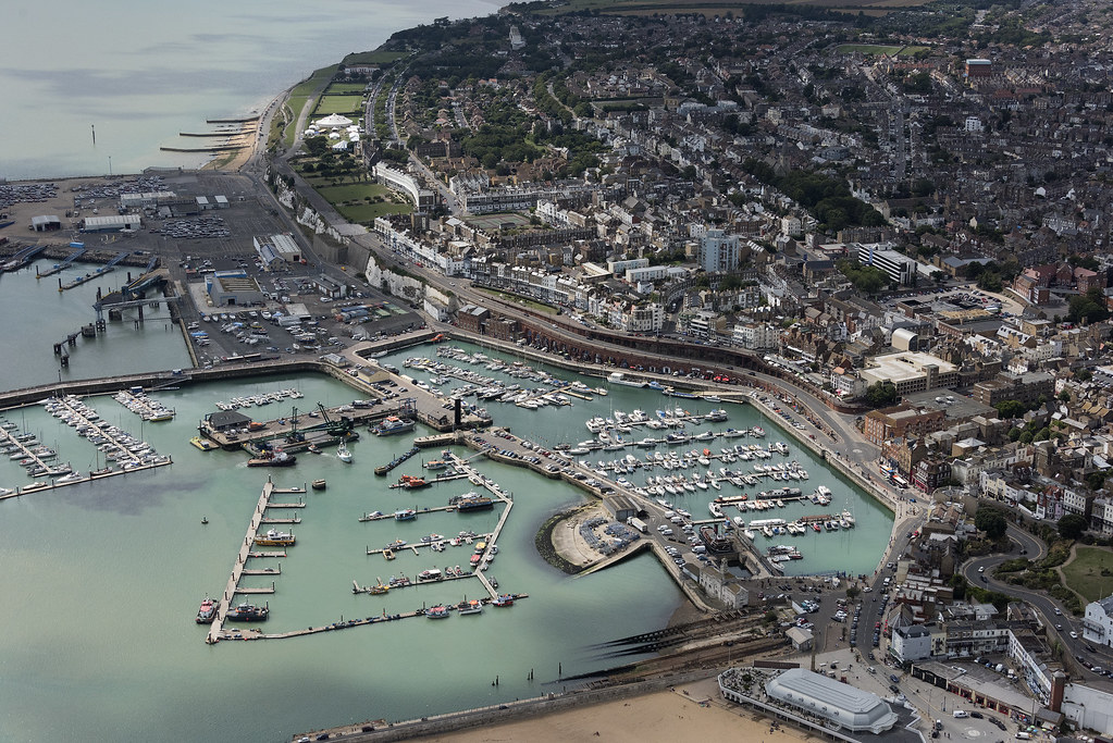 The Port of Ramsgate aerial image