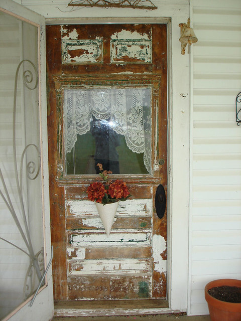 My Front Door | Shabby Chic Or Ugly? Itu0027s Partially Stripped ...