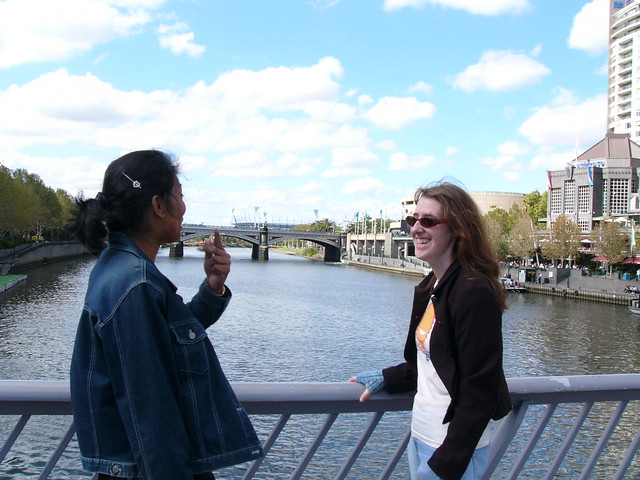 Kavitha and Briony on the Yarra