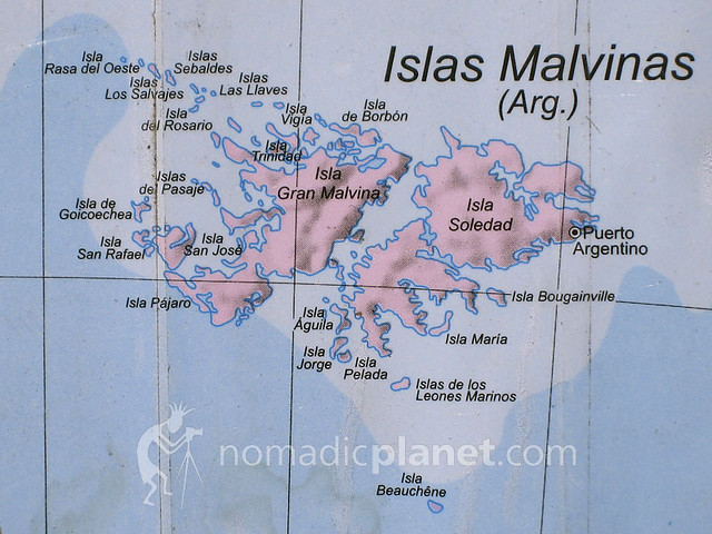 Falkland Islands Map Mapa Islas Malvinas Falkland Island Flickr