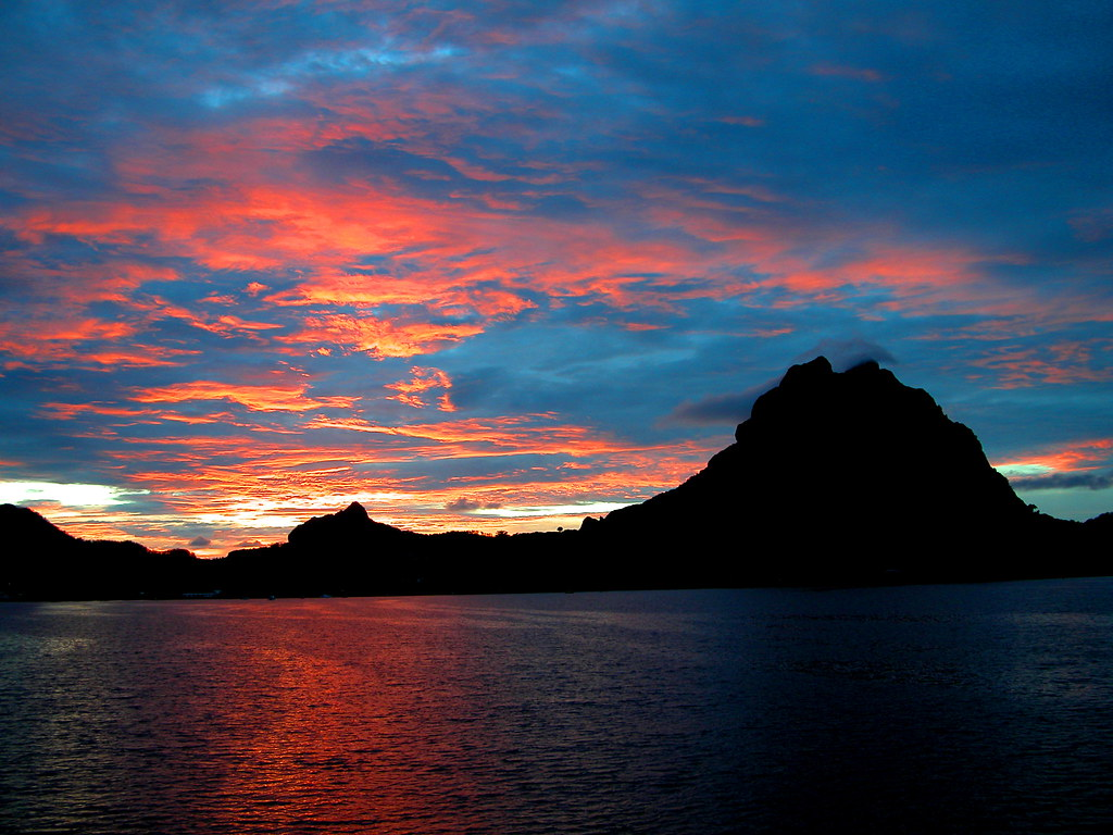Bora Bora Sunset French Polynesia Schooksonruss Flickr