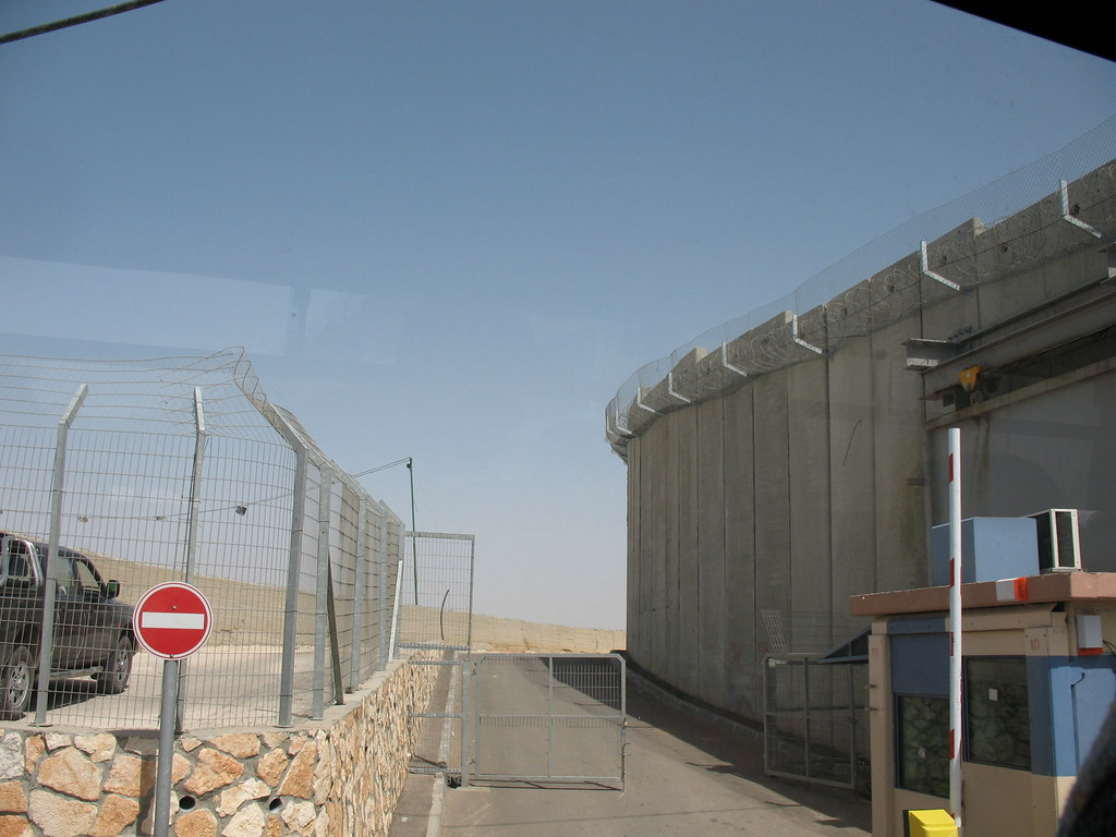 Bethlehem Security Wall And Checkpoint Israeli Side