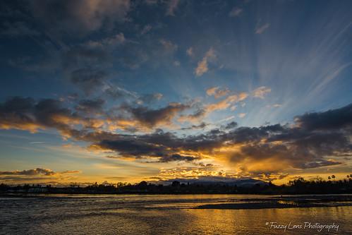sacramentoriver clouds sunset bally redding california unitedstates us