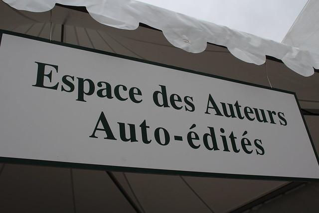 Espace des auteurs auto-édités - Le Livre sur la Place 2018 à Nancy