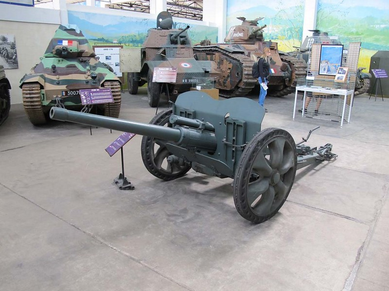 French 47mm SA37 Anti-Tank Gun 1
